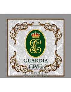 Azulejo cuadrado con emblema de la Guardia Civil. Solo en venta en nuestra tienda online