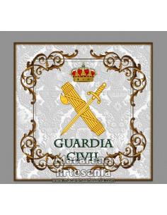 Azulejo cuadrado con el emblema de la Guardia Civil. Solo en venta en nuestra tienda online