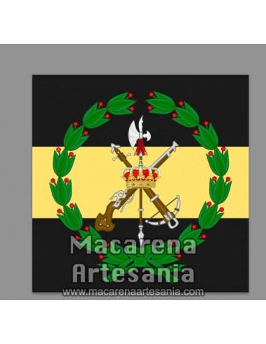 Azulejo cuadrado con el emblema del Tercio Duque de Alba 2º de la Legión. Solo en venta en nuestra