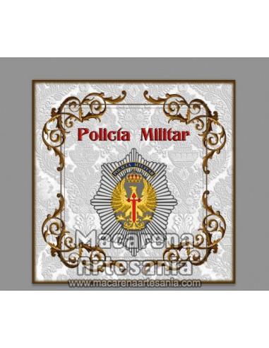 Azulejo cuadrado con el escudo de la Policia Militar. Solo en venta en nuestra tienda online
