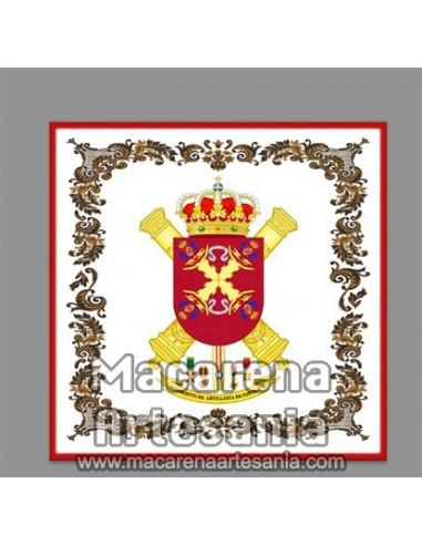 Azulejo cuadrado con el escudo del Regimiento de Artillería de Costa Nº. 4, RACTA-4 en venta solamente en nuestra tienda.