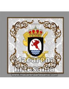 Azulejo con el emblema de la Unidad de Reconocimiento del Subsuelo Guardia Civil. Solo en venta en nuestra tienda