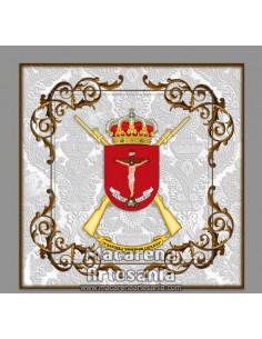 Azulejo cuadrado con Escudo de la IV Bandera de la Legión Cristo de Lepanto. Solo disponible en nuestra tienda online.