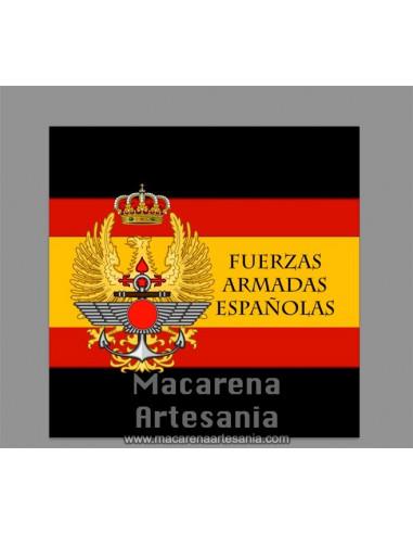 Azulejo cuadrado con el emblema de las Fuerzas Armadas Españolas. Solo disponible en nuestra tienda online.