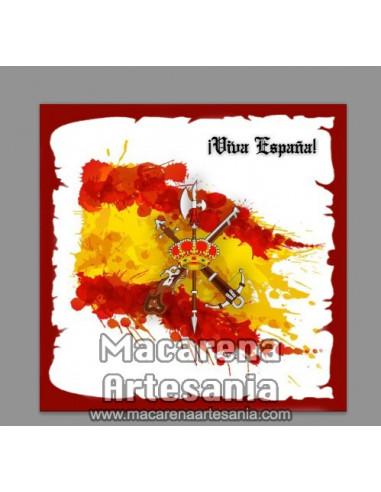 Azulejo cuadrado con Emblema de la Legión y Viva España. Solo en venta en nuestra tienda online