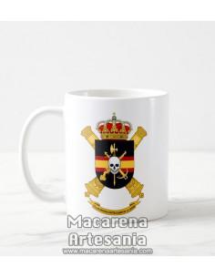 Taza de cerámica con escudo de la Compañía de Defensa Contracarro de la Legión. Solo en venta en nuestra tienda online