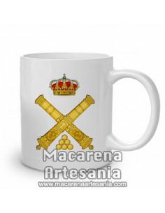 Taza militar de cerámica con el emblema de Artilleria. Solo en venta en nuestra tienda online