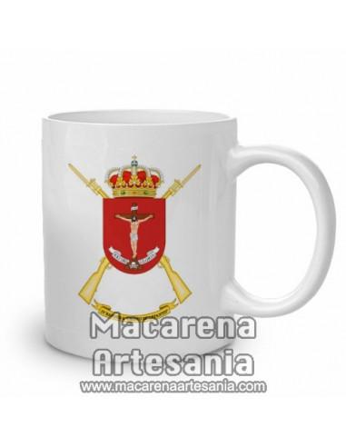 Taza de cerámica con emblema de la IV Bandera de la Legión Cristo de Lepanto. Solo en venta en nuestra tienda online