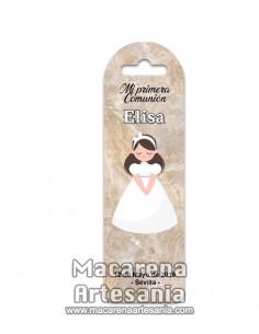 Marca página de plástico personalizado para niña de primera comunión en venta en nuestra tienda online