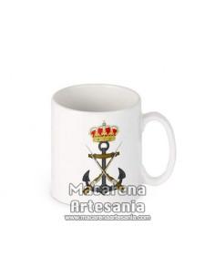 Taza militar de cerámica con emblema de la Infantería de Marina. Solo en venta en nuestra tienda online