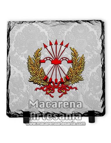Pizarra cuadrada con emblema del El yugo y las flechas - Falange, solo en venta en nuestra tienda online.