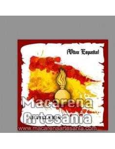 Azulejo cuadrado con Emblema de Artilleria y Viva España. Mod:02. Solo en venta en nuestra tienda online