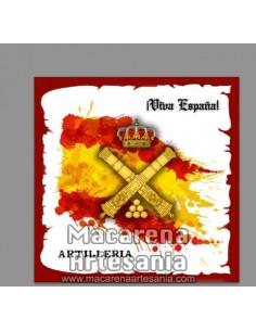 Azulejo cuadrado con Emblema de Artilleria y Viva España. Mod:01. Solo en venta en nuestra tienda online