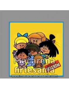 Azulejo cuadrado de la Familia Telerín ¡¡Vamos a la cama!!, solo en venta en nuestra tienda online.