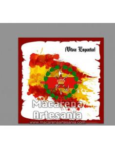 Azulejo cuadrado con el emblema del tercio Gran Capitan 1 de la Legión y Viva España. Solo en venta en nuestra tienda online