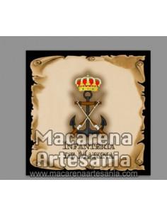 Azulejo con emblema de la Infanteria de Marina, modelo pergamino. Solo disponible en nuestra tienda online.